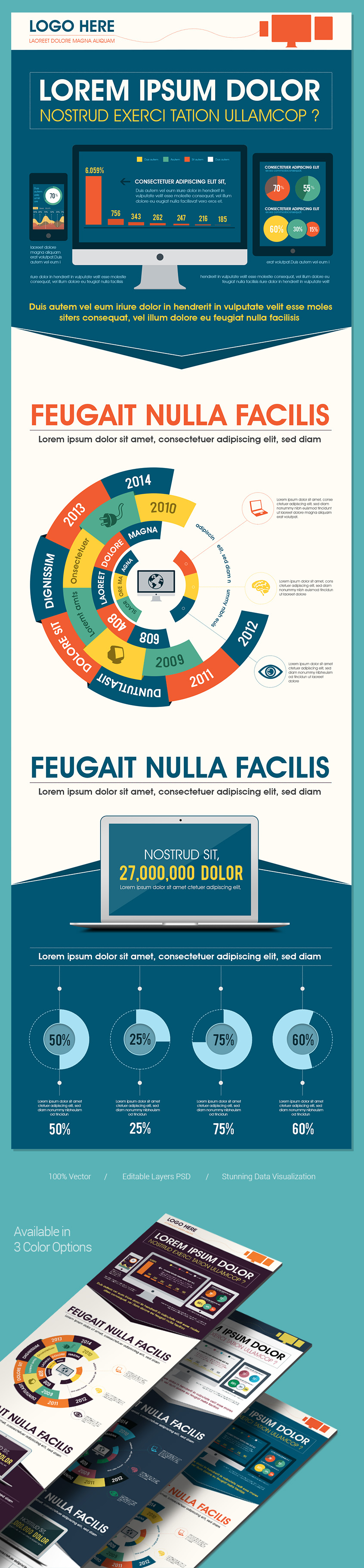 Infographics to showcase your technology telecom and networking related data