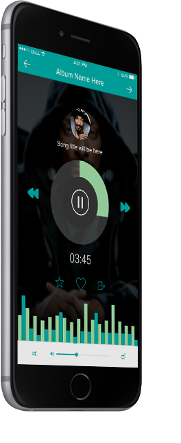UI Kit optimised for iPhone 6 Plus